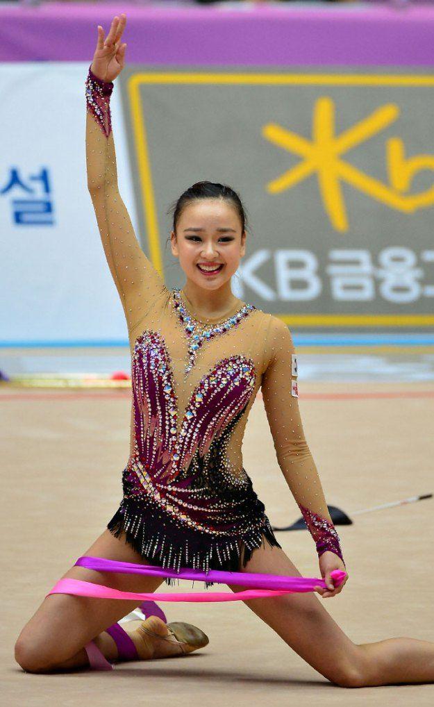 Son Yeon Jae Finished Rhythmic Gymnastics Asian Championships with 3 Gold Medals   Koogle TV