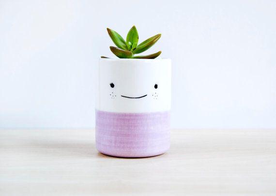 Ceramic plant pot Ceramic planter Succulent planter by noemarin