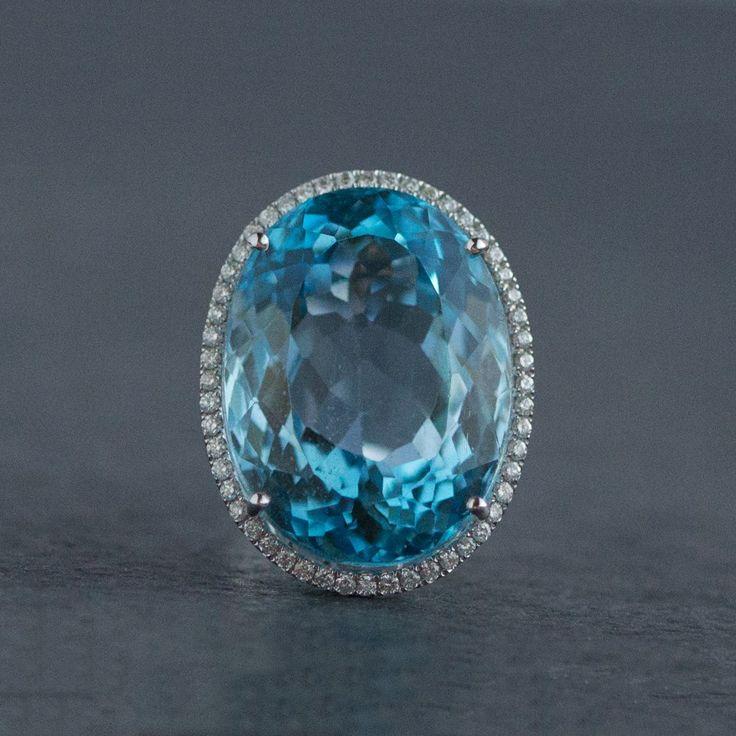 Blue topaz , gold , diamonds  2999 €