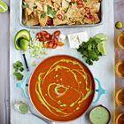Mexicaanse tomatensoep met chilinachos
