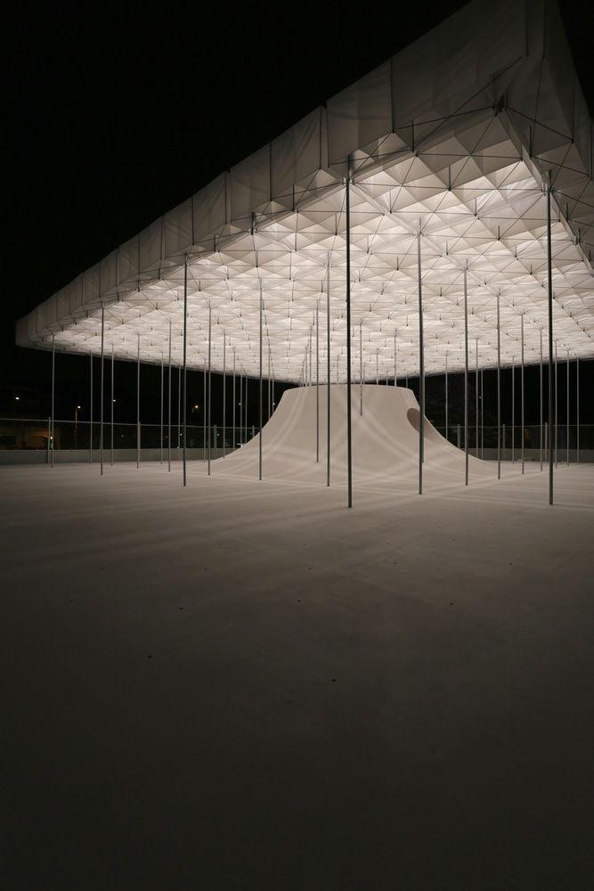 Galerie des schwimmenden Pavillons / der Architekt…