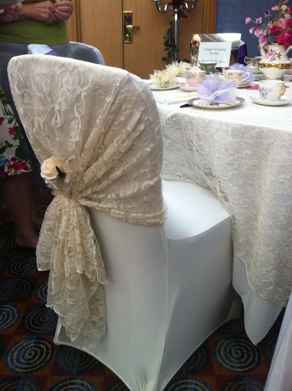 Lace chair covers and table cloth