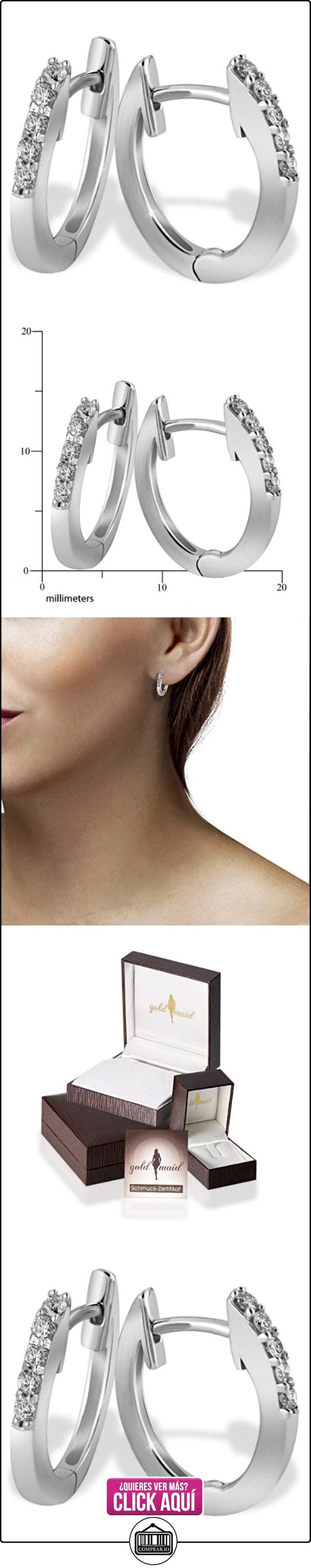 Goldmaid - Pendientes de Mujer de oro blanco con diamante redondo  ✿ Joyas para mujer - Las mejores ofertas ✿ ▬► Ver oferta: https://comprar.io/goto/B00606Q38Q