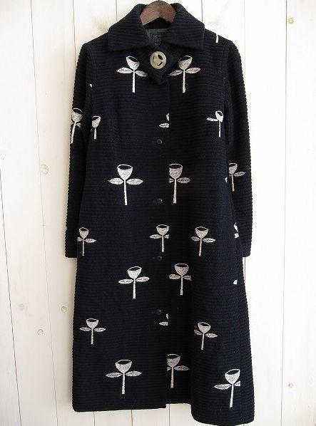 Mina Perhonen  Beautiful coat, be still my heart. Синее со стрекозами, вязанное крючком. Кофта?