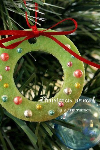 クリスマスリースクッキー|型抜きクッキーを作ろう!かわいいクッキー型!