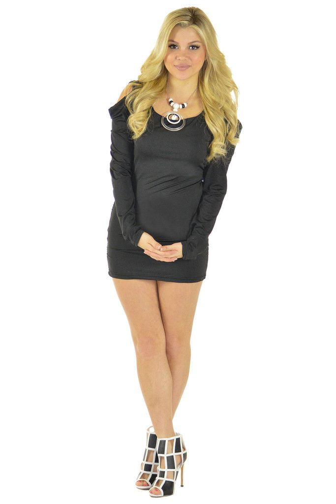 A Little Tied Up Black Dress | Sexyback Boutique
