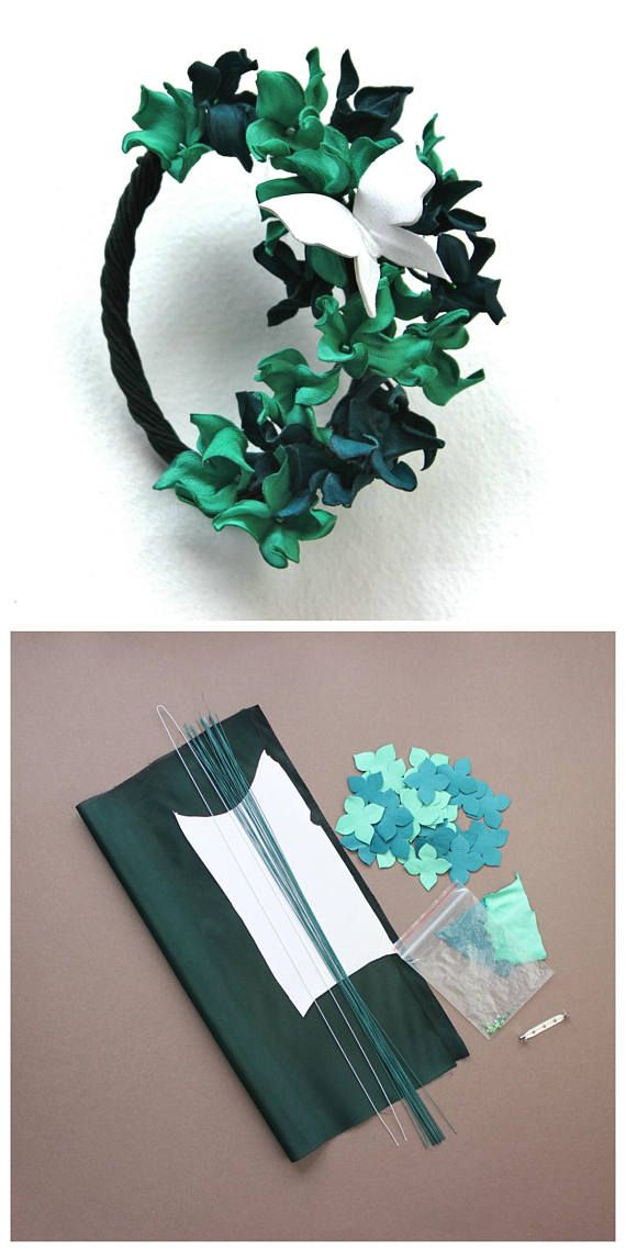 This DIY leather kit can be purchased together with the Leather Hydrangea Brooch Tutorial for making a brooch with leather hydrangea flowers and a leather butterfly in the comfort of your own home or studio. You can purchase the LEATHER HYDRANGEA BROOCH TUTORIAL at