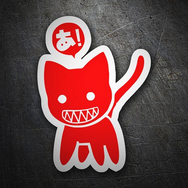 Pegatinas: Gato rojo JDM #friki #TeleAdhesivo
