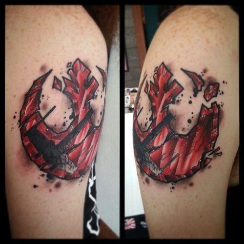 496 best star wars tattoos images on pinterest star wars for Matching star wars tattoos