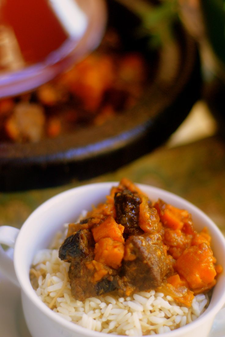 Beef Tagine with Sweet Potato and Prunes (Tagine Lahma bil Batata)