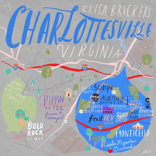 24 Hours in Charlottesville, VA | Great blog post with Elisa Bricker!