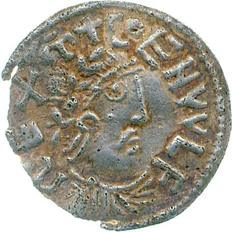 Silver penny of King Coenwulf of Mercia (796-821), London, 796-821. The portrait is probably copied from contemporary coins of Emperor Louis the Pious, which were in turn inspired by Roman coin portraits. CM.1.162-1990, Blunt Collection.