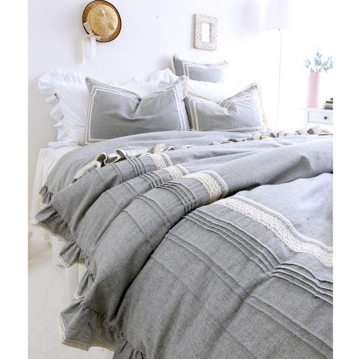Светло серый роскошное постельное белье постельные принадлежности 4 шт. комплект хлопка жидкости мода принцесса пододеяльник простыни современный дом простой постельное белье комплект купить на AliExpress