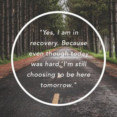 """twloha:  """"Yes, I am in recovery. Because even though today was hard, I'm still choosing to be here tomorrow."""" - Kelly Stricklen,""""To Those Who May Not Understand"""""""