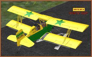 Grumman G-164A Ag-Cat Doppeldeckerein Sprühflugzeug für die Landwirtschaftals FSX Freeware von Karel Donk