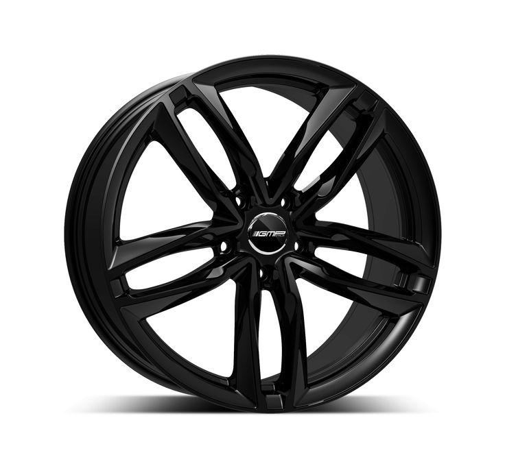 Atom Glossy Black Professional Alloy wheel / Cerchio in lega professionale Atom Nero lucido Side