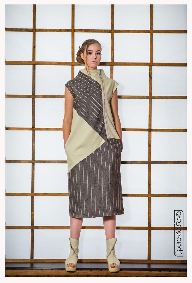 Платье в полоску двухцветное - J.Perekriostova