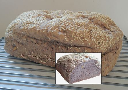 Sometimes #abundance breeds odd #ideas. #Raspberry-#pinenut #bread - light #wholewheat significantly enhanced with #wheatbran, #wheatgerm #psylliumfiberhusk and #chiaseed. The strange pinkish colour of the interior comes from the addition of #fresh picked #organic #raspberries. Very little (though a little) #flavor is added by the #berries although the #pinenuts add a nice #crunchy texture. I'm sure this will make GREAT #grilledcheese #sandwiches