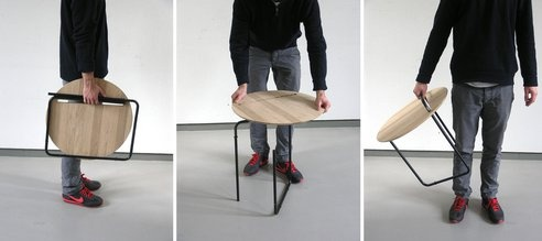 Sleek and simple coffee table is inspired by paper clips : TreeHugger