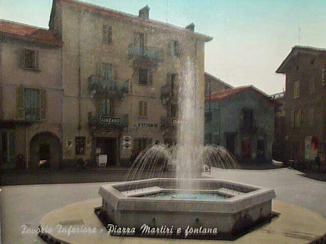 Piazza di #Invorio retró ( #Novara #Piedmont #Italy ) #fontana