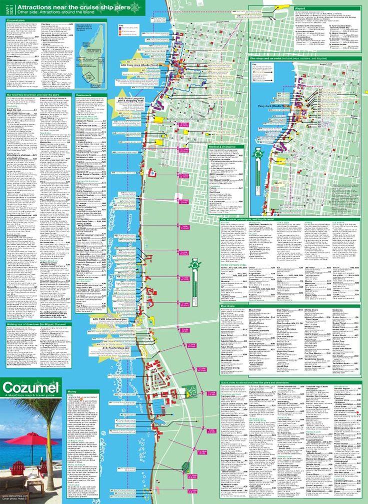 cozumel map travel guide