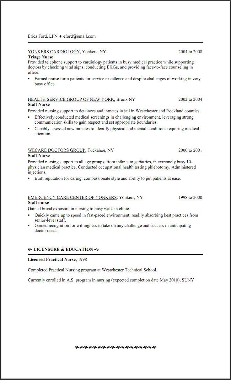 licensed practical nurse resume