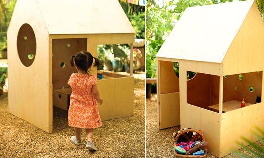 Modern speelhuis voor in de tuin - Speelgoed - Rabboon, ontwerp unieke geboortekaartjes, alles voor uw baby en kind