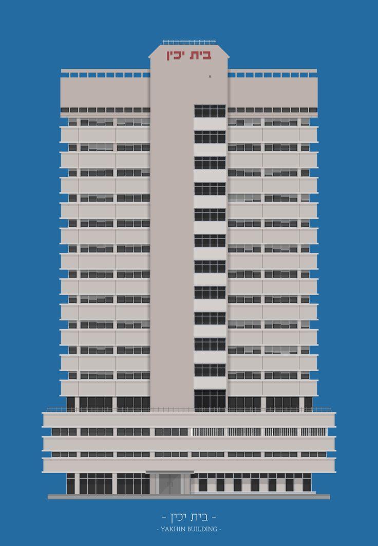 Building illustration from Avner Gicelter's TLV Buildings. tlvbuildings.tumblr.com