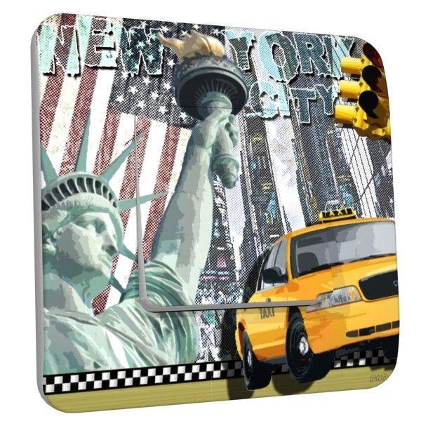 Interrupteur déco New York taxi poussoir
