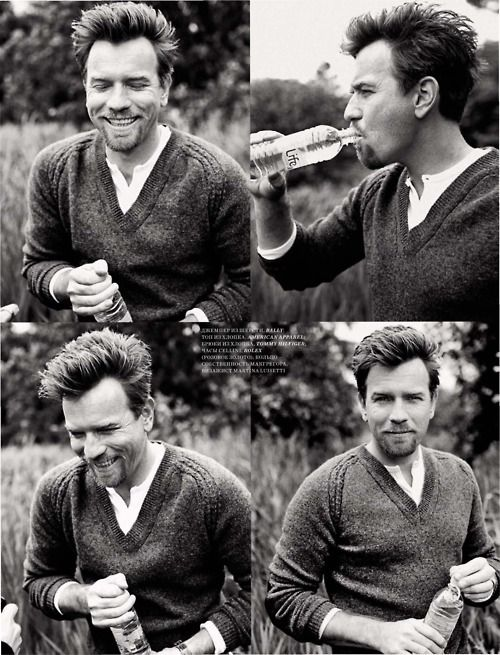 There is just something really dashing about Ewan McGregor (the photobooth series)