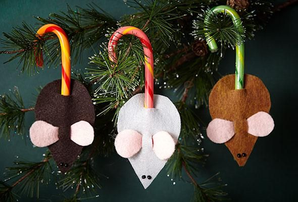 3 Candy Cane Crafts: Candy Cane Mice, Reindeer, and Place Card Holders