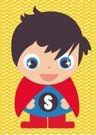Poster Jongenskamer, Stoere Poster van een Hippe Superman voor de Jongenskamer. -Kinderkapstok, kinderlampen, Kinderkamer-Accessoires en Muurstickers bij Dreumes enZo alles voor de Kinderkamer of Babykamer.