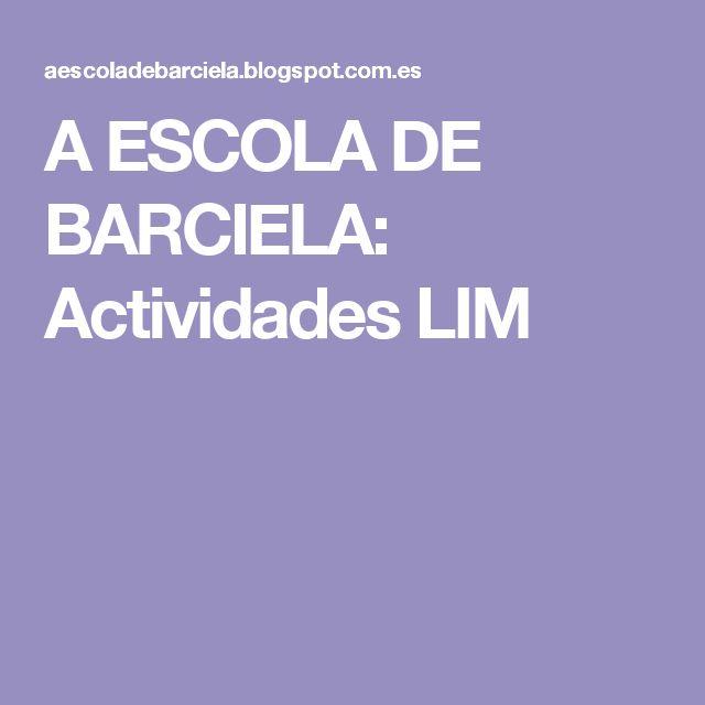 A ESCOLA DE BARCIELA: Actividades LIM