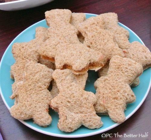Sandwiches en forma de oso