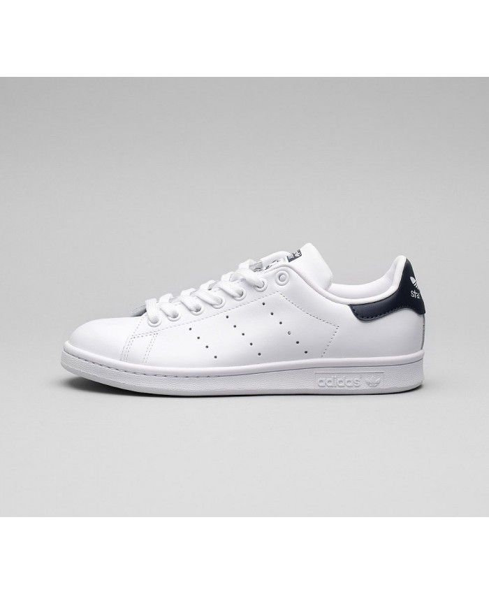 Cheap Adidas Originals Stan Smith Trainer White White Navy