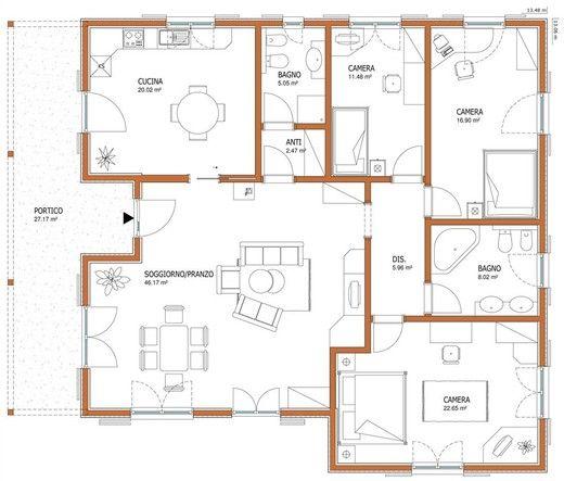 Wolf haus case prefabbricate fantasia 175 arredo for Progetti di case moderne a un solo piano