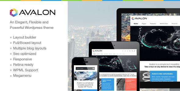 Avalon - a Responsive and Modern Wordpress Theme
