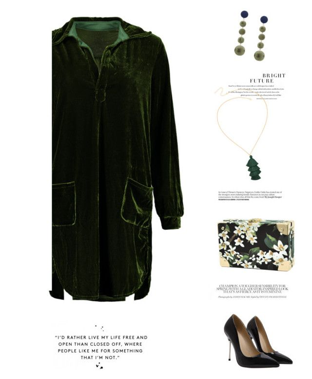 """Green velvet shirt dress"" by stellina-from-the-italian-glam ❤ liked on Polyvore"