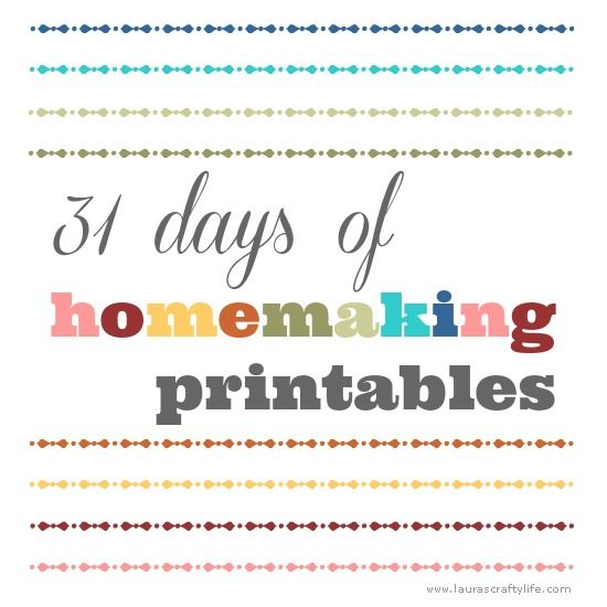 This year I am again participating in The Nesting Place's 31 days challenge. It is an online writing challenge to write every day for the month of October on one topic. Last year I wrote about 31 days of deep cleaning your home. This year I decided I would share 31 days of free homemaking …