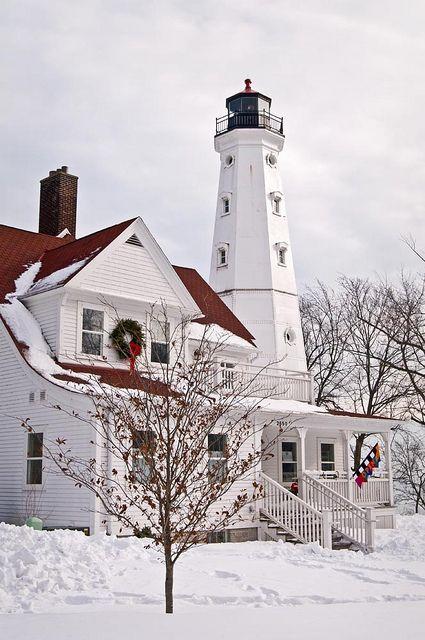 The North Point lighthouse near Milwaukee, Wisconsin