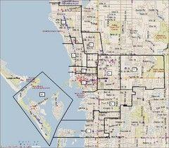 Sarasota, Florida City Map