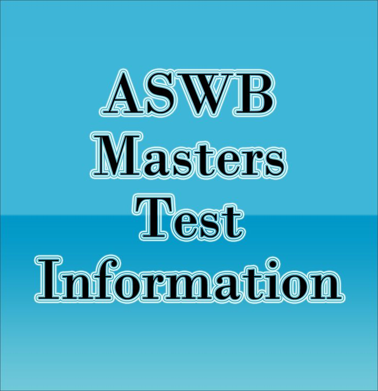 The ASWB Masters exam, formerly known as the ASWB Intermediate exam, is a licensure examination designed by the Association of Social Work Boards (ASWB) and administered by the American College Testing Program (ACT) that is used to determine whether or not an individual has an intermediate understanding of the social work field. Click here to learn more about the ASWB Masters test! #aswb