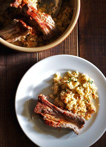 豚スペアリブとクスクス - ヒグッチーニ連載:メンズキッチンへようこそ Higucciniの週末もてなしランチ レシピブログ -料理ブログのレシピ満載!