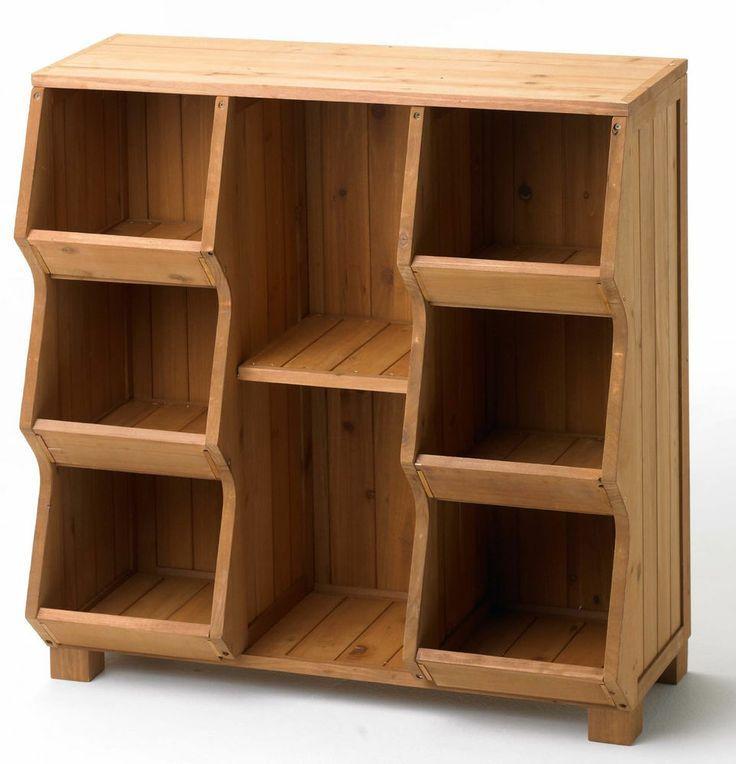 wooden toy storage bins Cubby Storage Unit Shelf Organizer Furniture Wood Toy Bin Closet ...