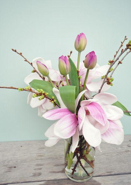 lemapi - südtiroler lifestyleblog: flowerday: magnolien, tulpen und kirschzweige