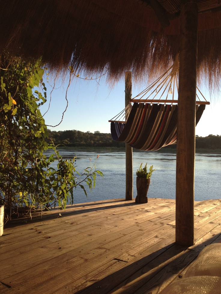 Ngepi Camp on the Kavango River on the border of Namibia and Botswana