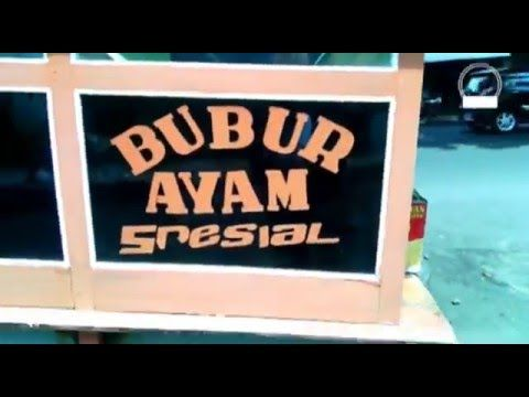 Yogyakarta Street Food, Chicken Porridge, Bubur Ayam Spesial Indonesia - YouTube