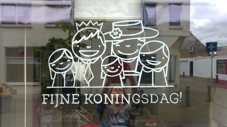 Koninklijke familie #raamtekening door Maartje H