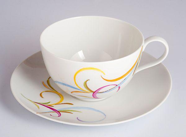 Чашка для кофе мокко греческая с ангелом (464910 96)+ блюдце (195012 96) / Наборы посуды / Luxury Goods - Бренды