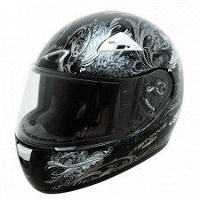 Casque Astone GTO kid Le Baron + Cheek #Casque #Speedway #enfant #noir #moto